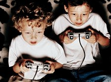 Kids with gamepads