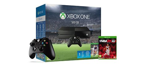 XBOX One 500GB FIFA16 2ndGamepad NBA2K16 101015